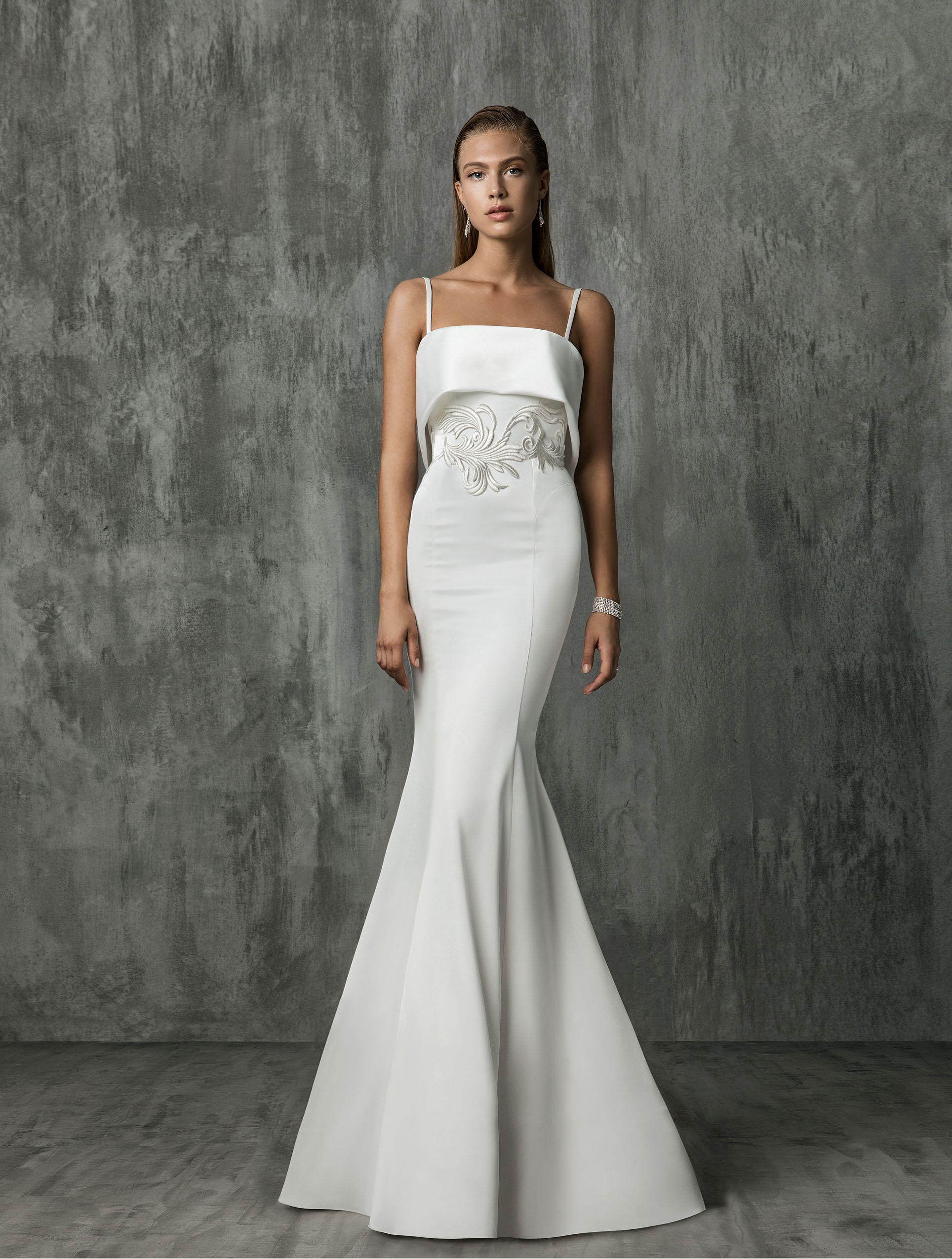 Свадебное платье 2018 облегающее