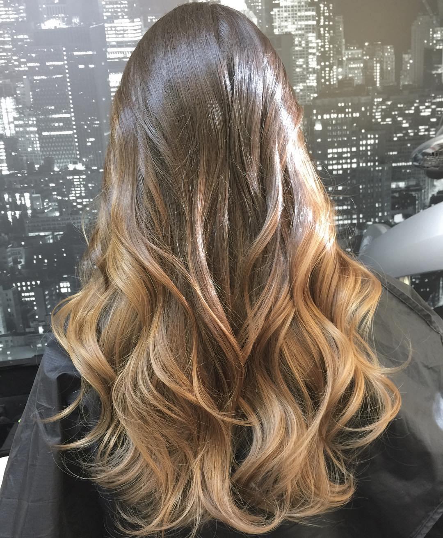 Омбре 2018 на длинные волосы