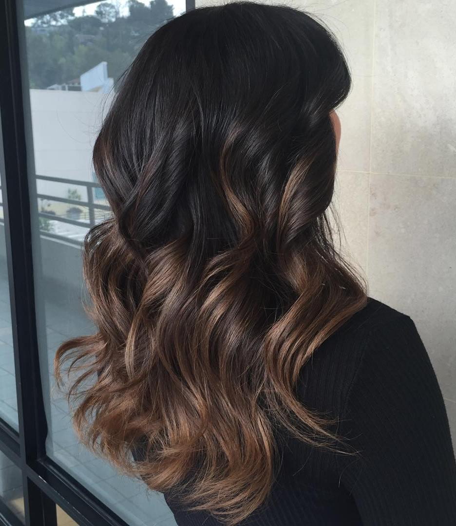 Омбре 2018 на темные волосы