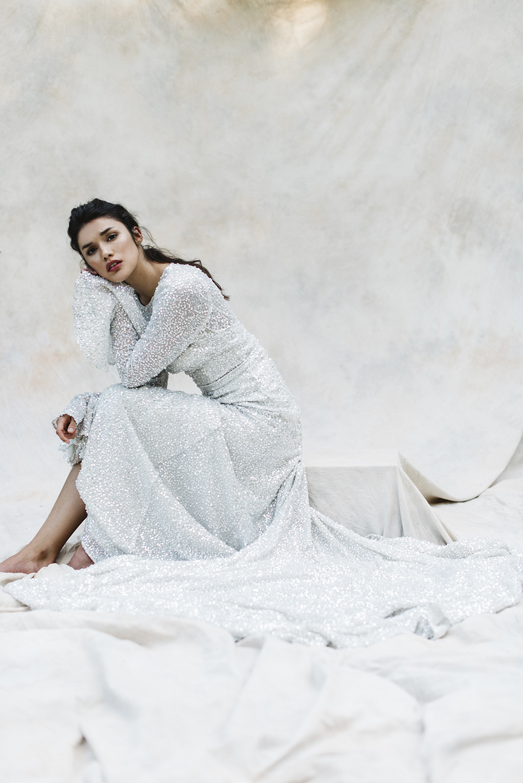 Свадебное платье 2018 с пайетками