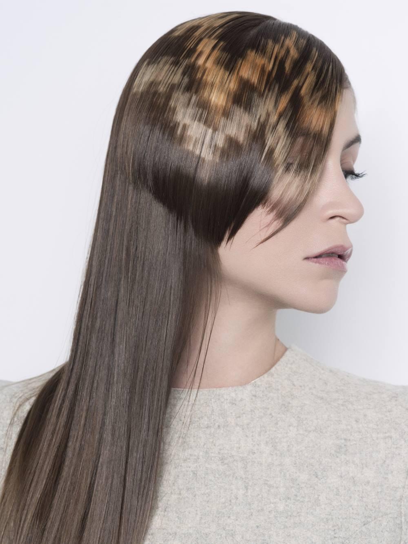 Окрашивание волос пиксельное 2018
