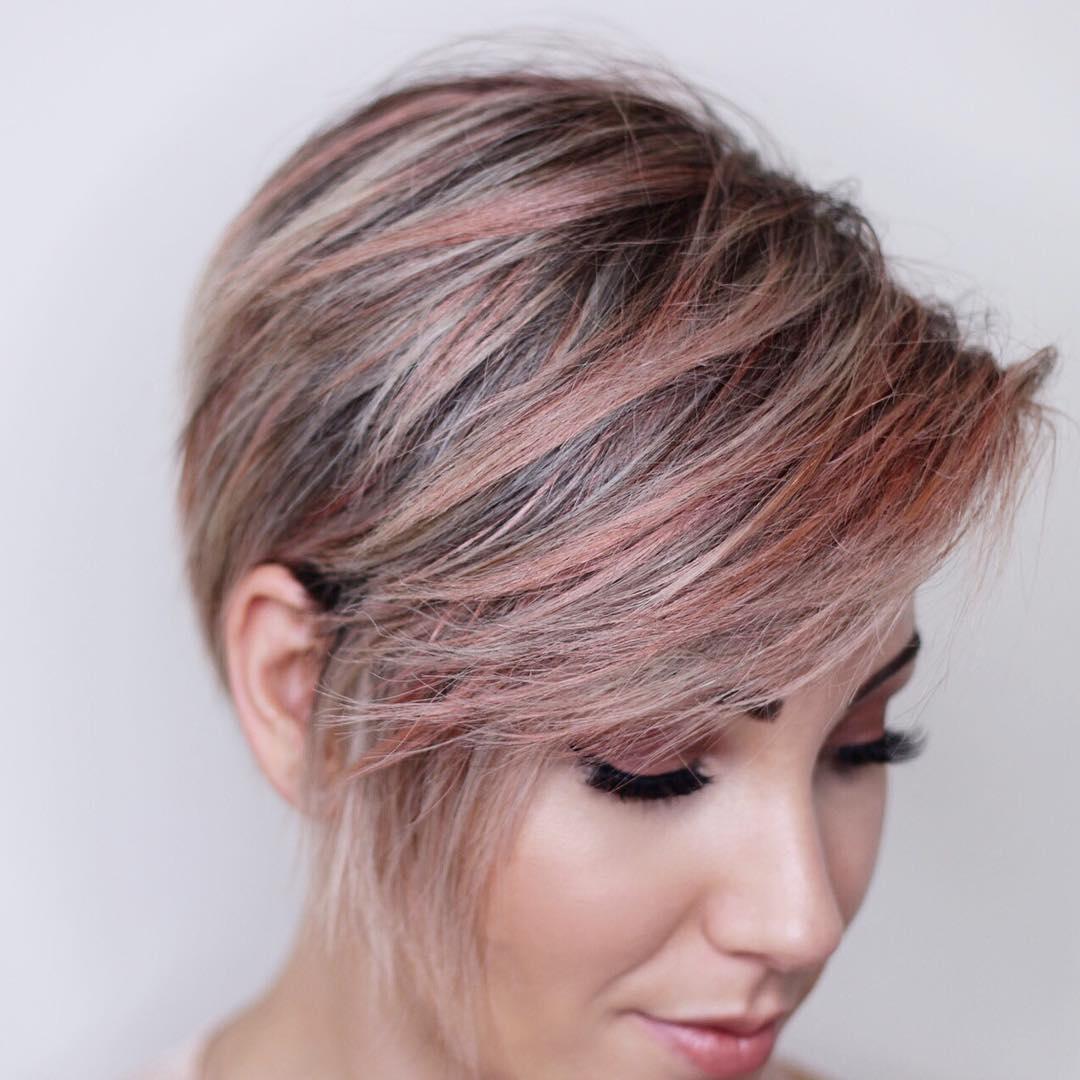 Окрашивание волос 2018 стрижка пикси