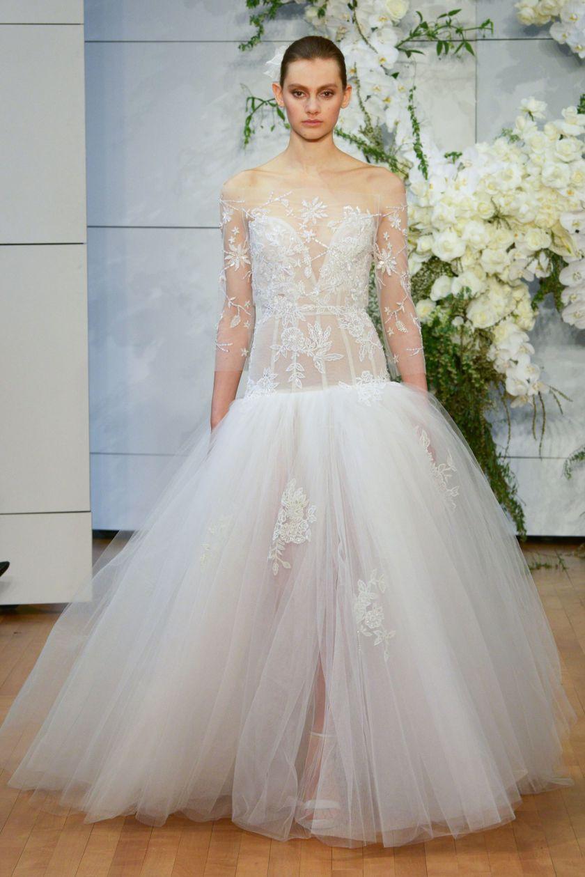 Свадебное платье 2018 прозрачное пышное
