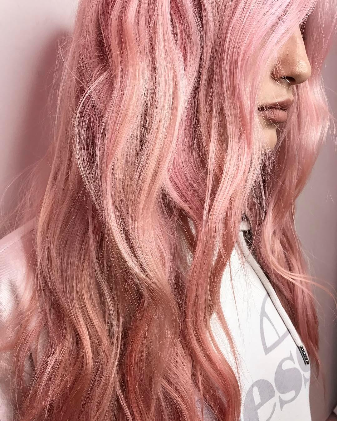 Окрашивание волос 2018 розовое золото
