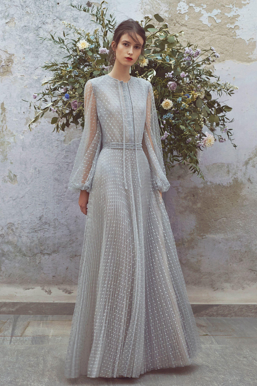 Свадебное платье 2018 серое