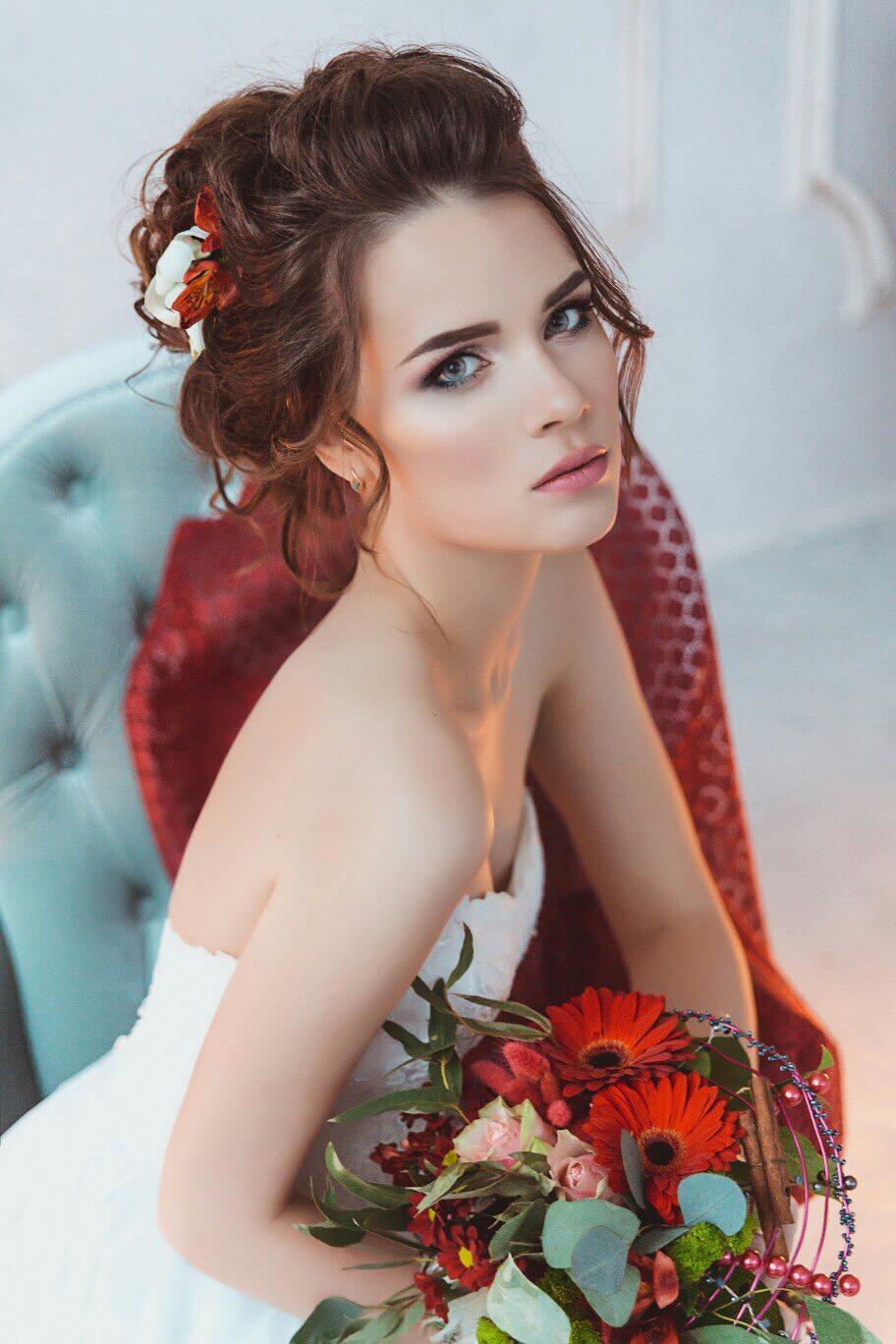 Макияж на свадьбу 2018 для серых глаз