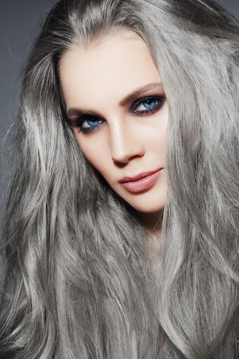Макияж смоки для голубых глаз