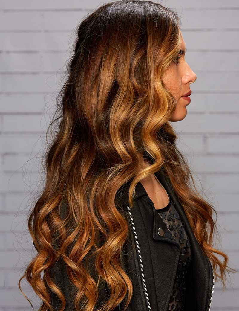 Сомбре на длинные волосы 2018