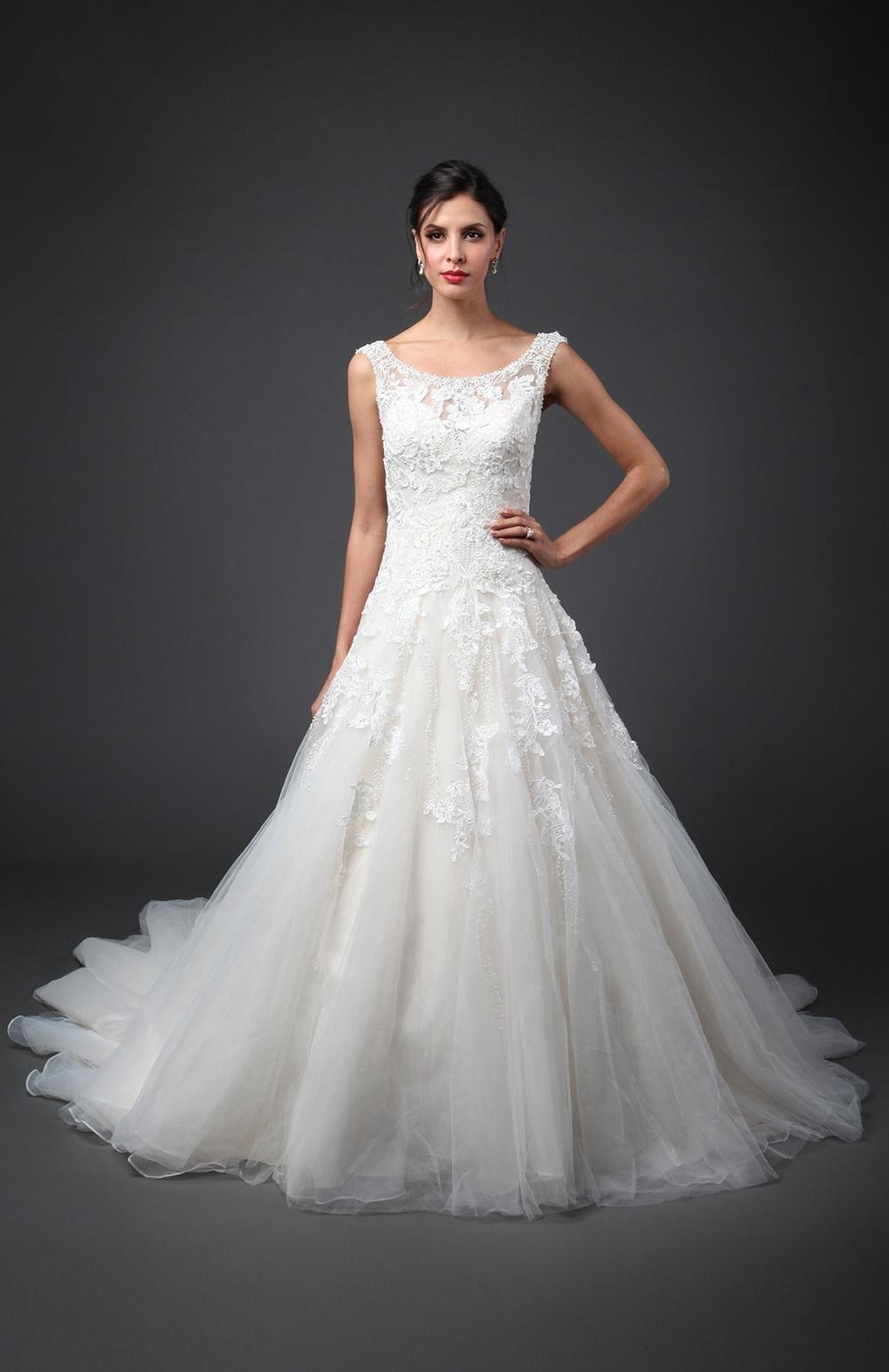 Свадебное платье 2018 из тюля