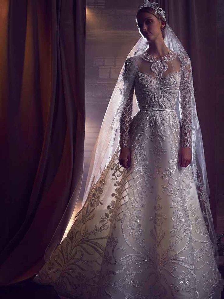 Свадебное платье 2018 с узором