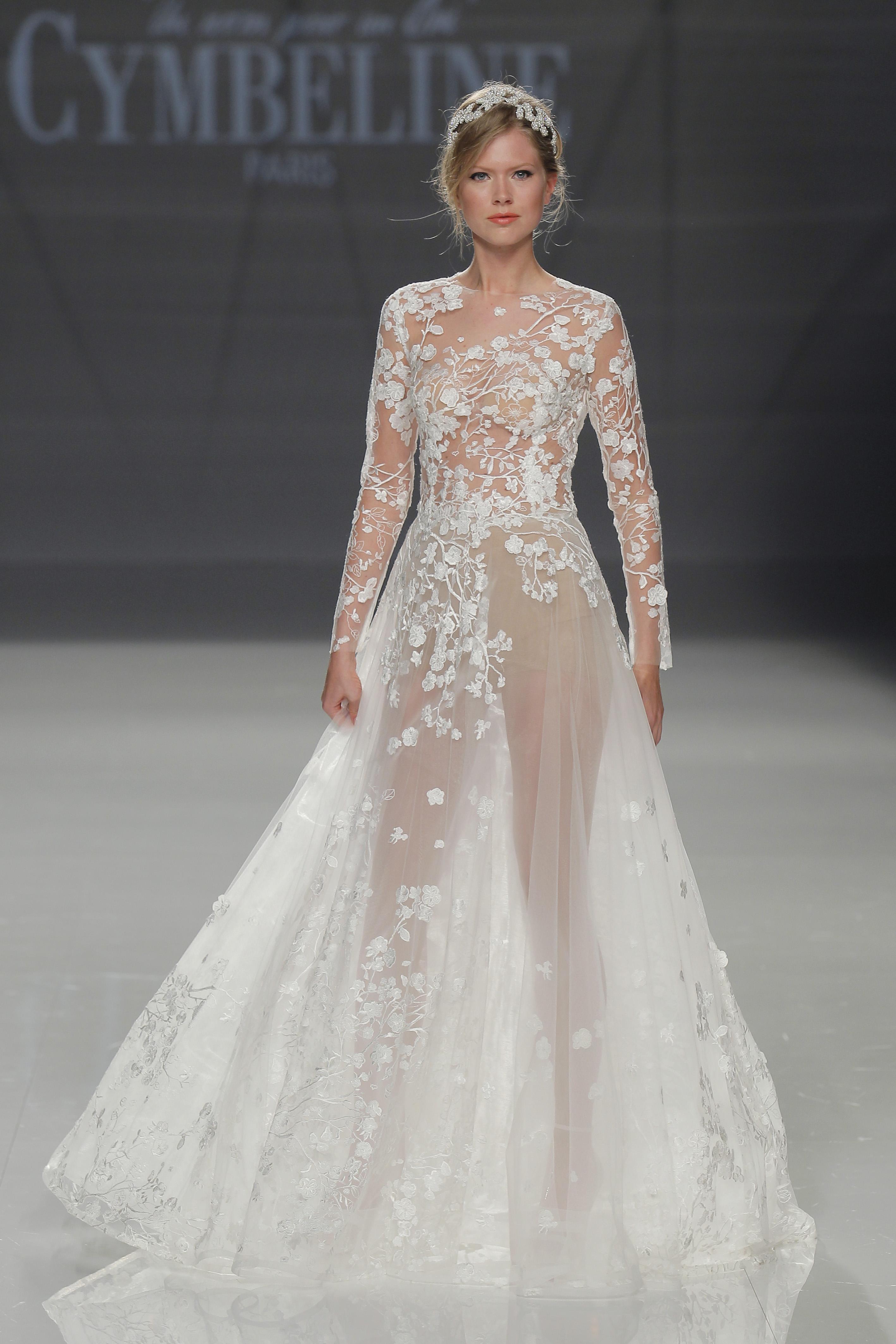 Свадебное платье 2018 с вышивкой