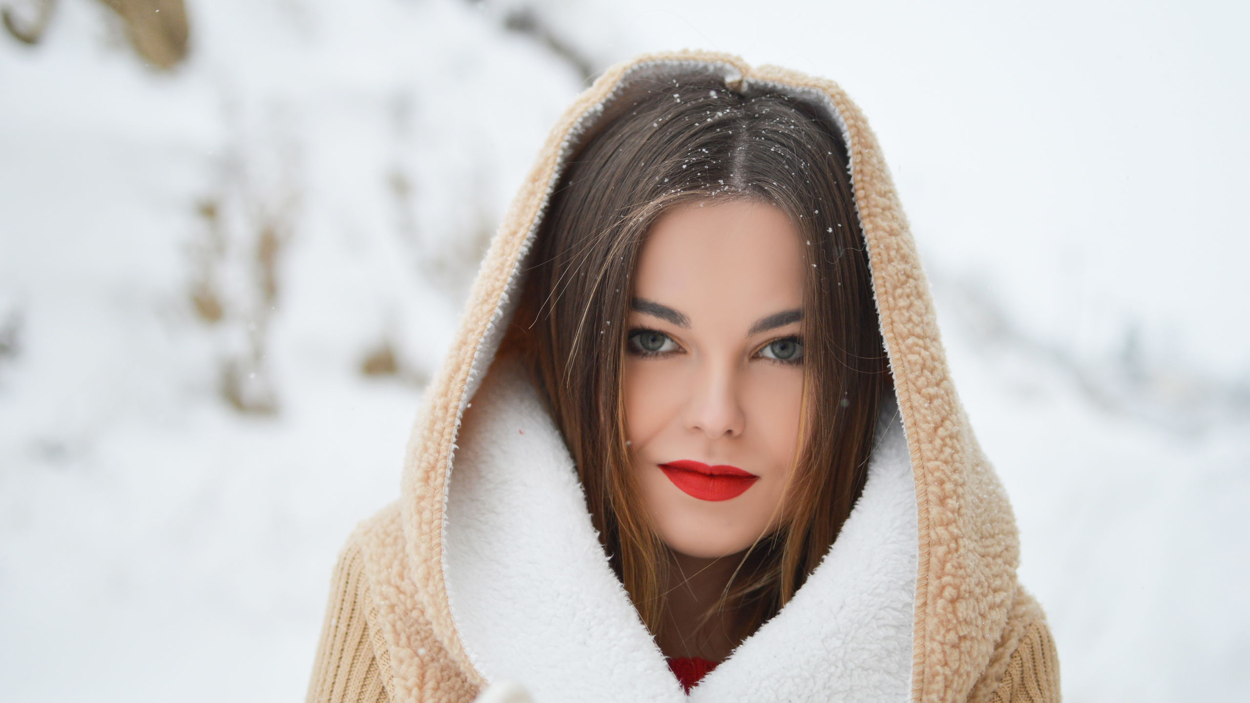 Макияж для фотосессии зимой