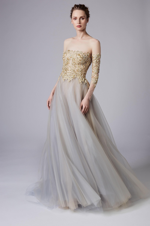 Свадебное платье 2018 золотое