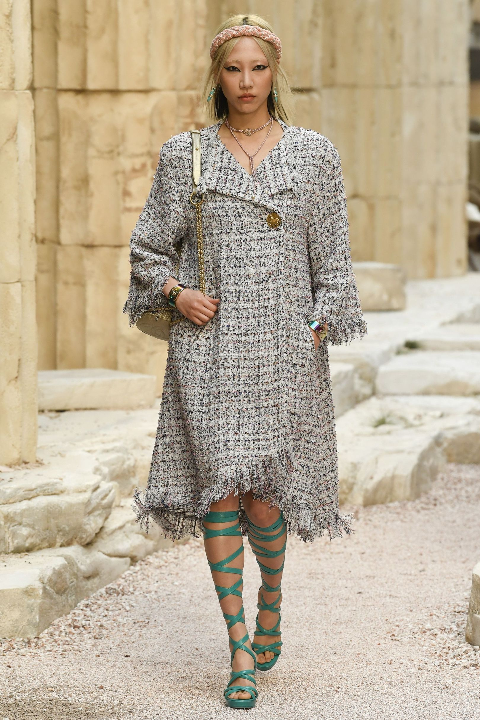Платье пиджак с бахромой Chanel