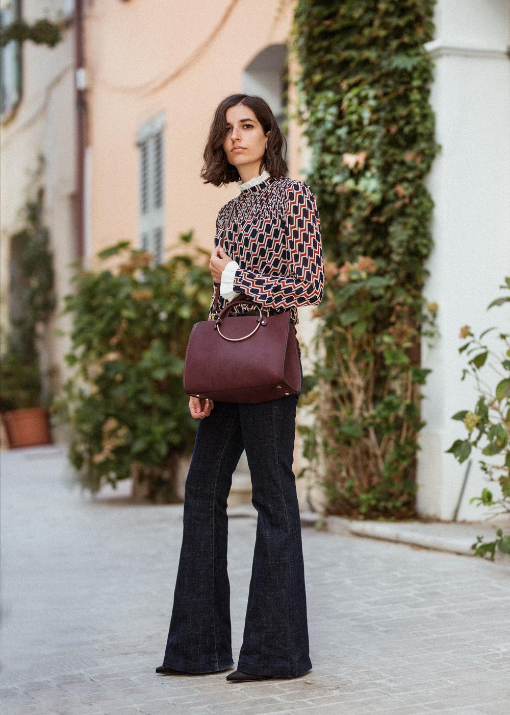 Классическая сумка бордовая