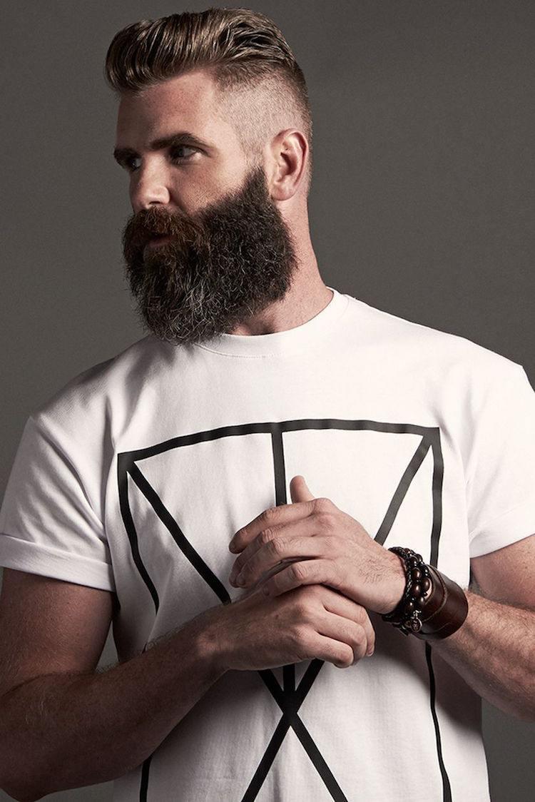 Мужская стрижка 2018 с бородой