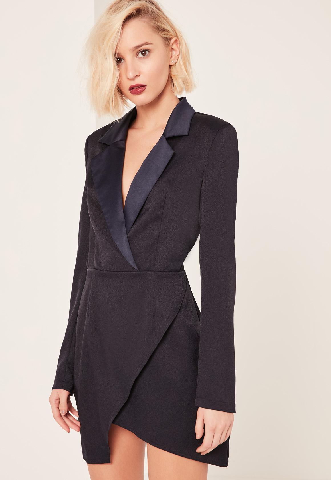 Платье пиджак черное