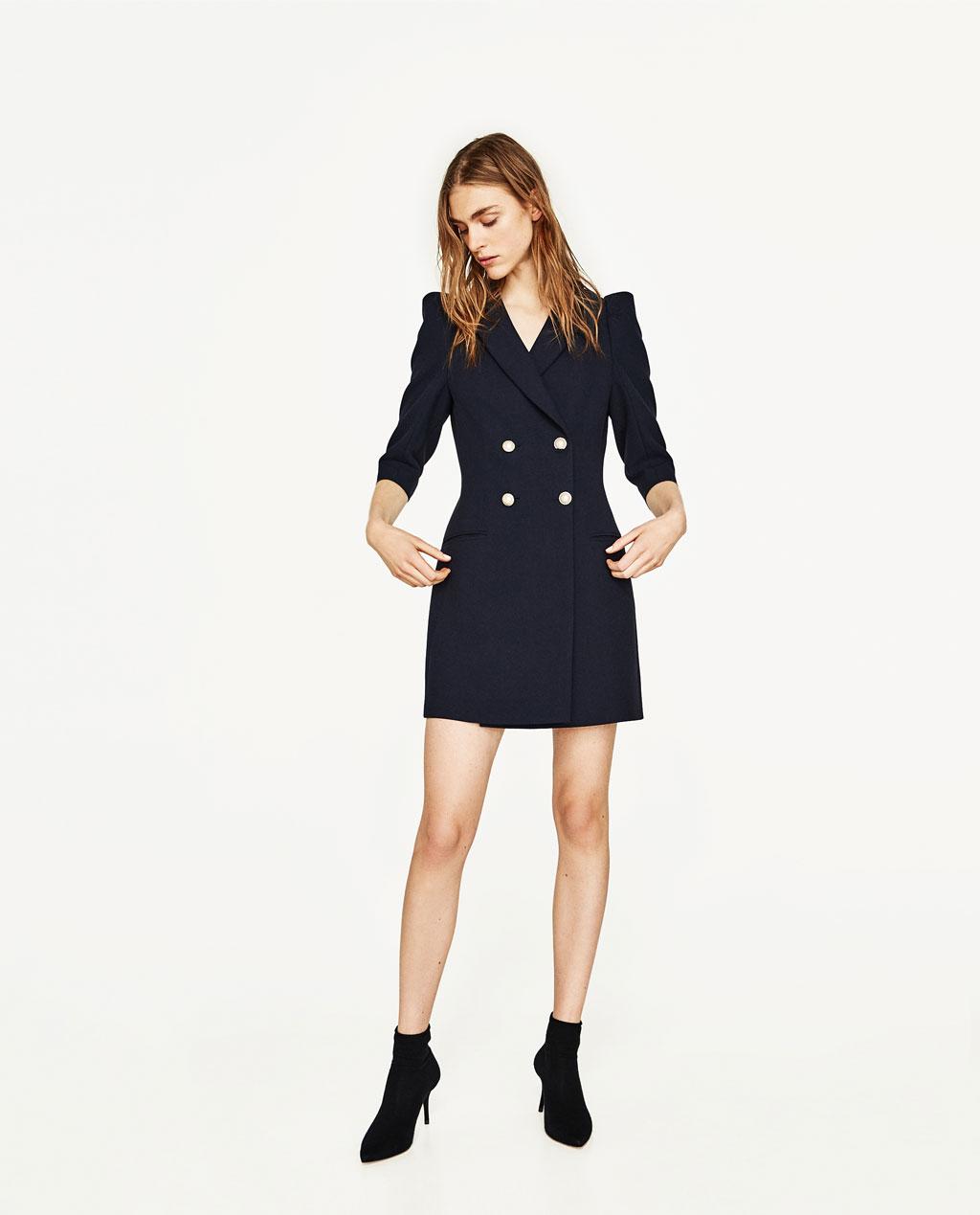 Платье пиджак черное классическое