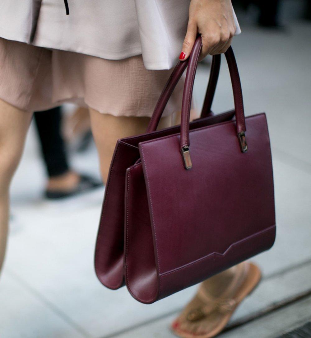 Бордовая сумка деловая