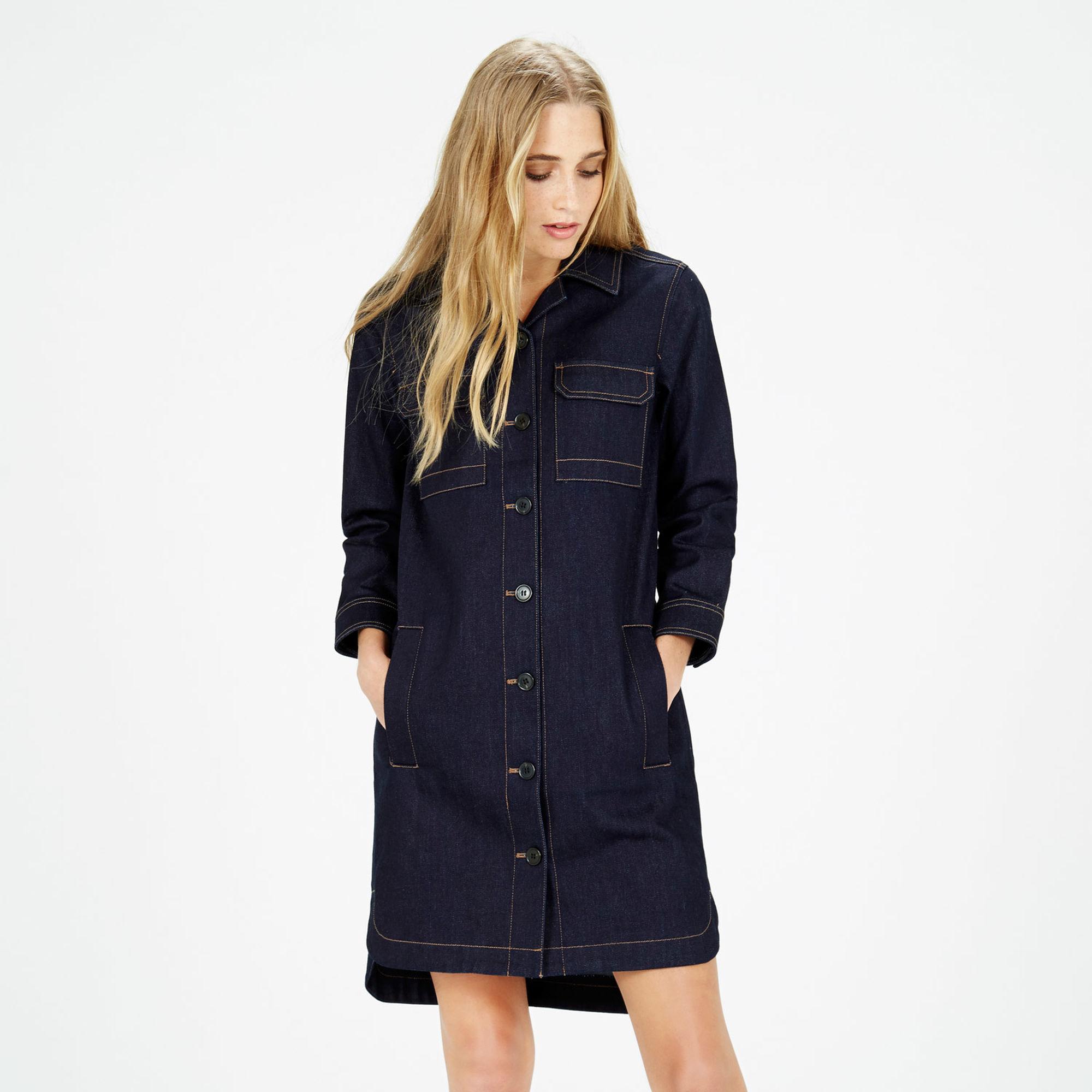 Платье пиджак деним