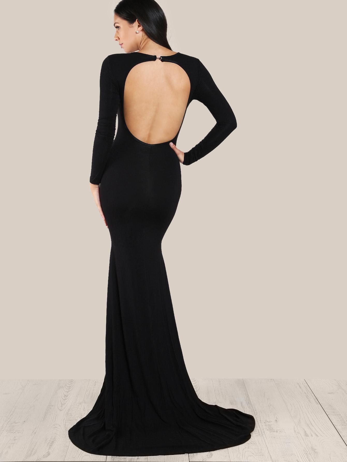 Платье с открытой спиной длинное