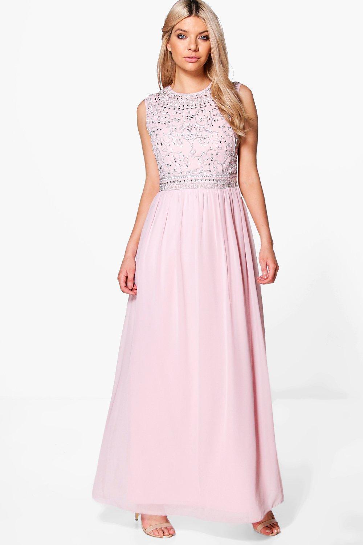 Платье из шифона длинное