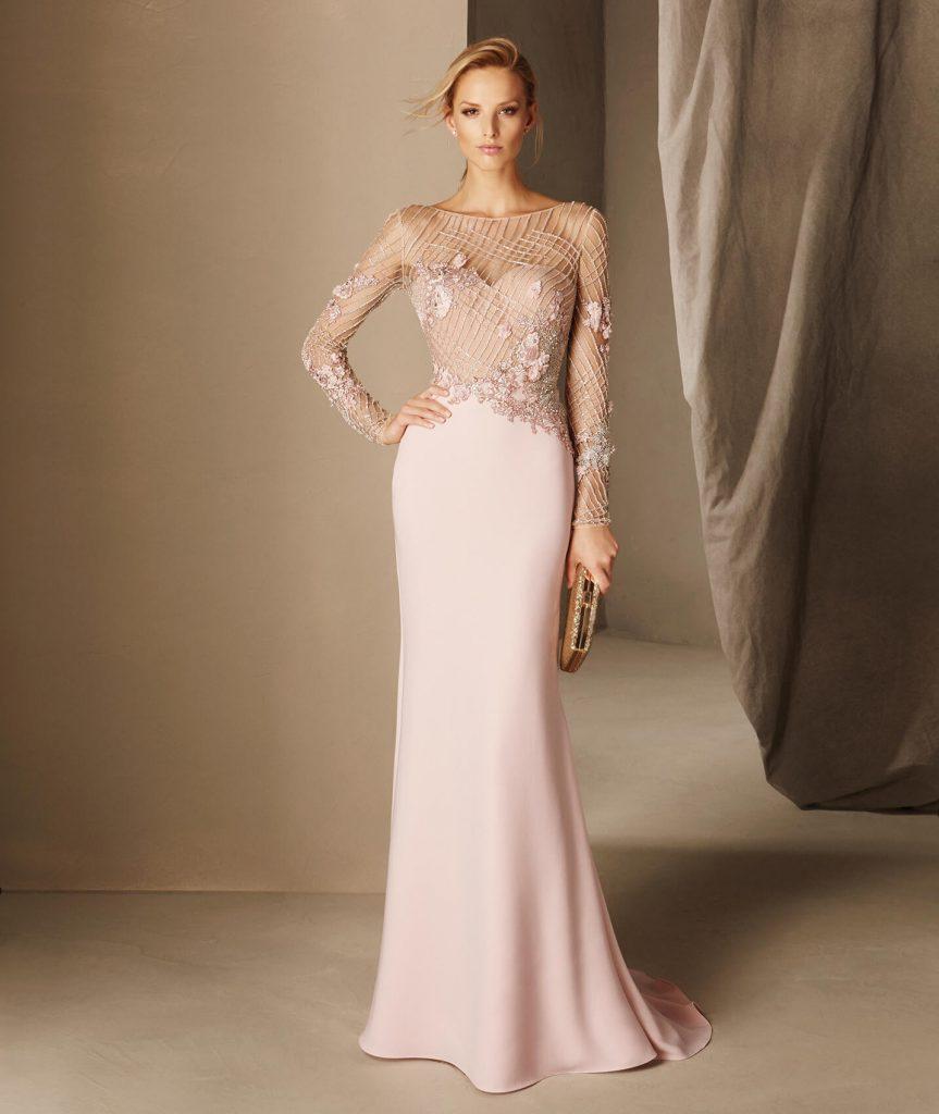 Шелковое платье длинное