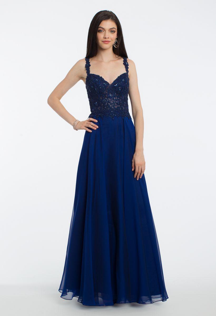 Платье из шифона длинное блестящее