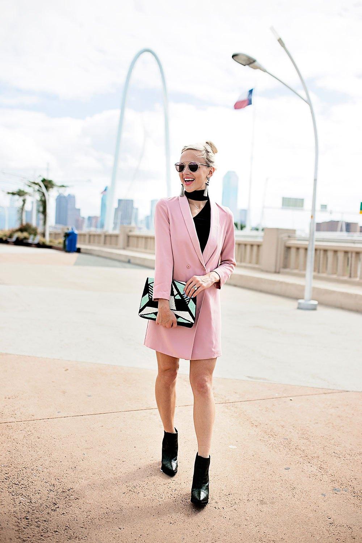 Платье пиджак двубортное