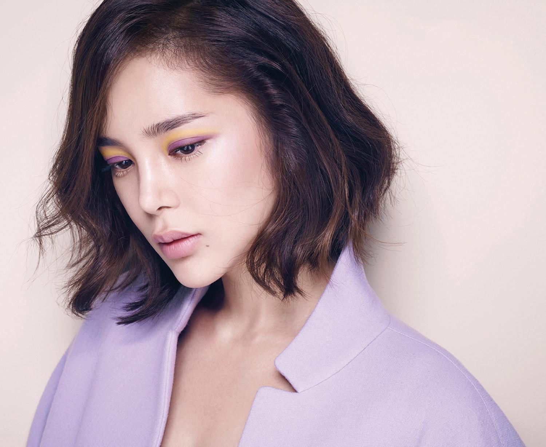 Корейский макияж двухцветный