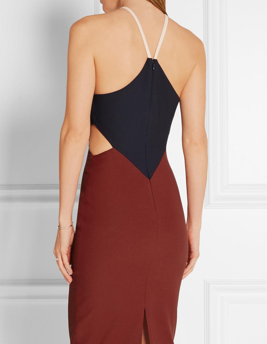 Платье с открытой спиной двухцветное