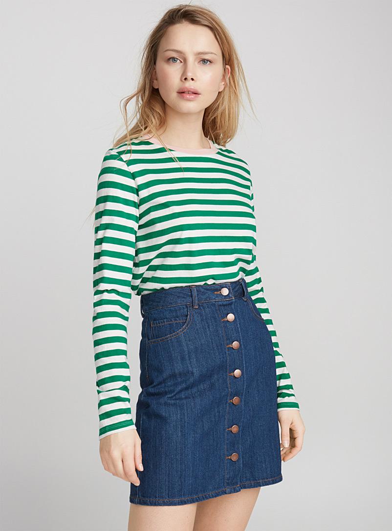 Юбка с завышенной талией джинсовая