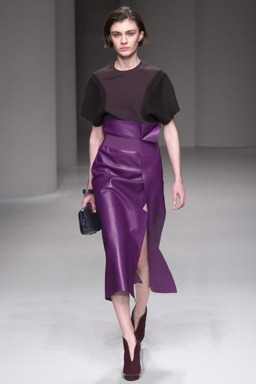 Юбка с завышенной талией фиолетовая
