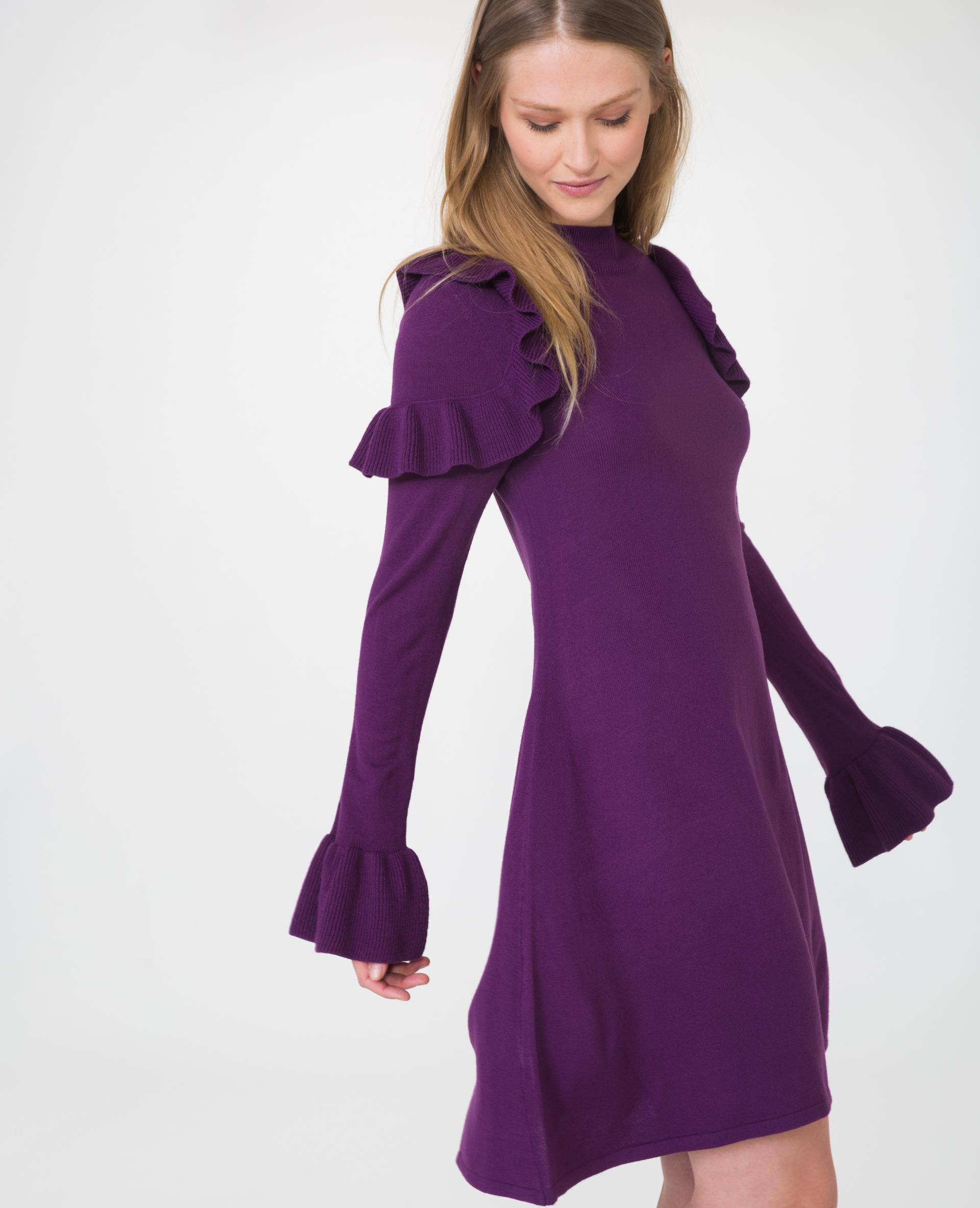 Платье футляр фиолетовое