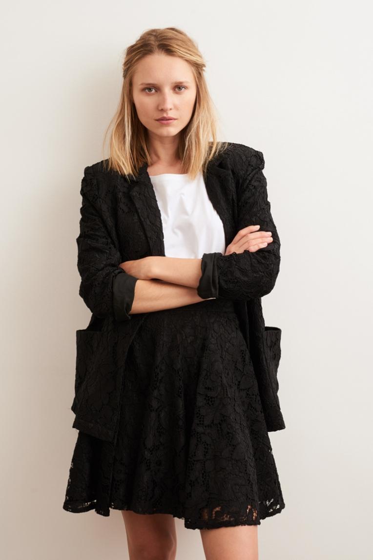 Платье пиджак гипюровое