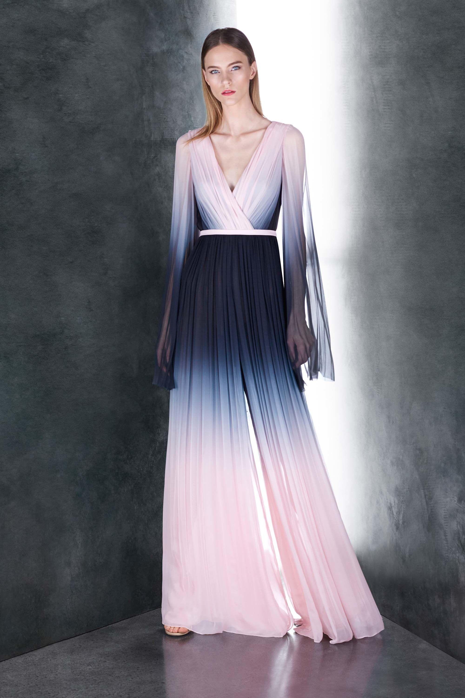 Шелковое платье с градиентом
