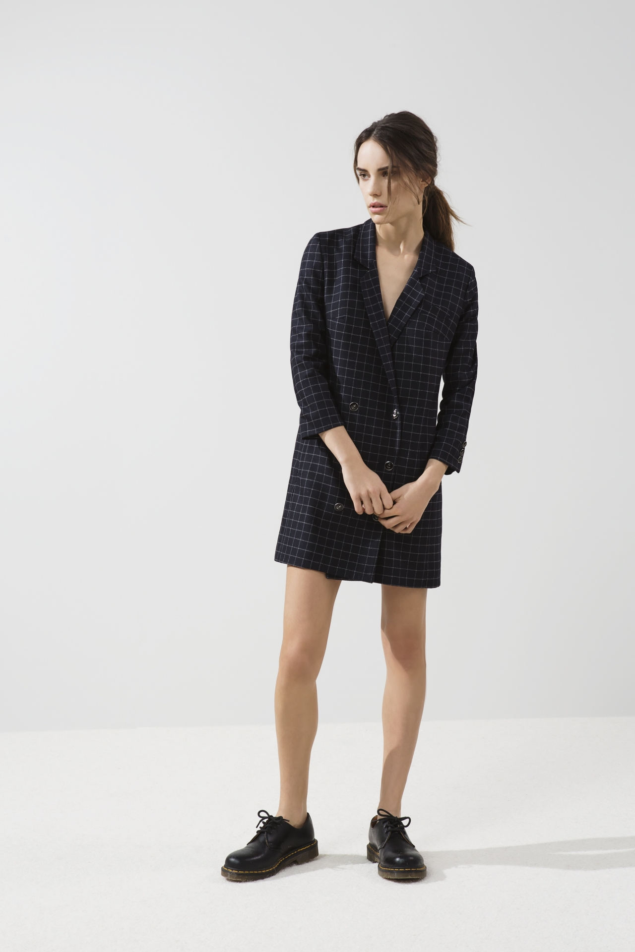 Платье пиджак клетчатое