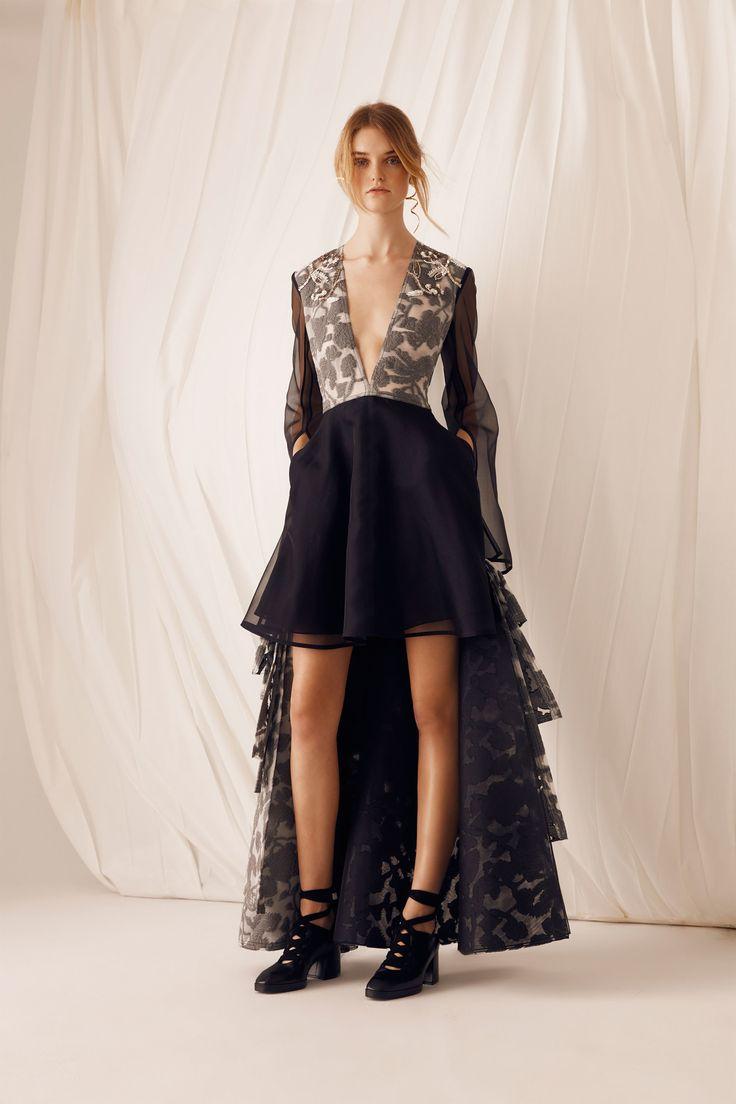 Шелковое платье комбинированное