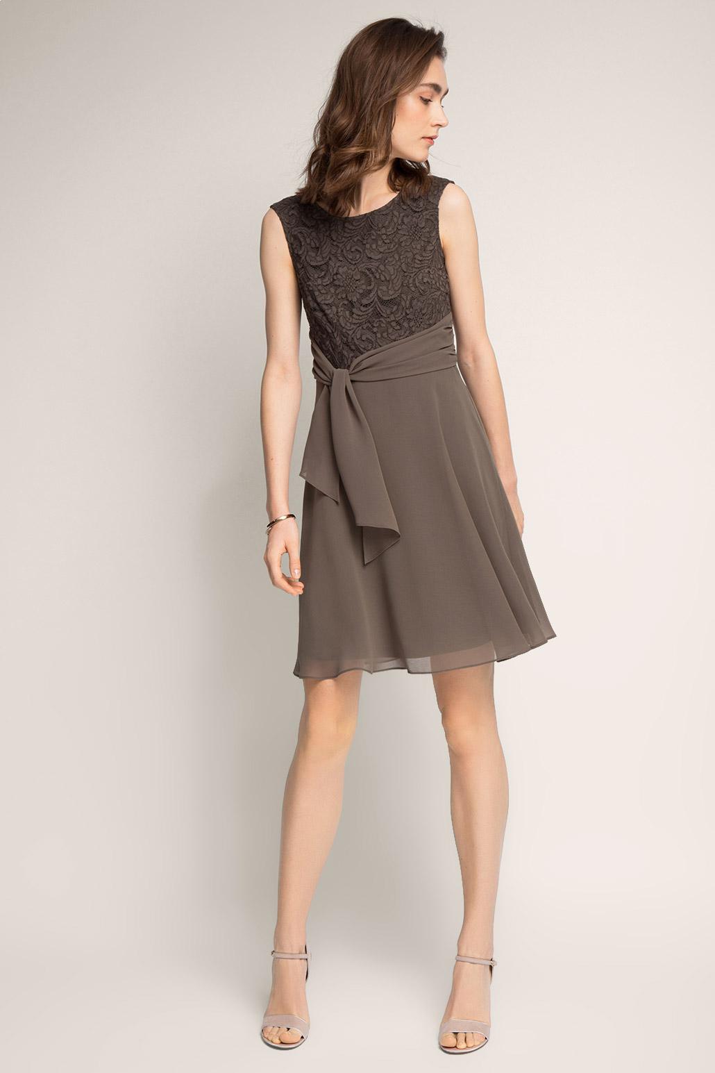 Платье из шифона короткое кружевное