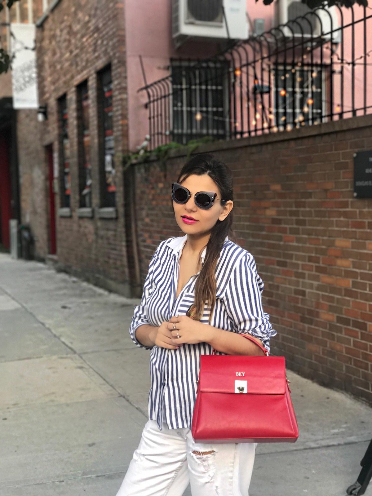 Классическая сумка красная