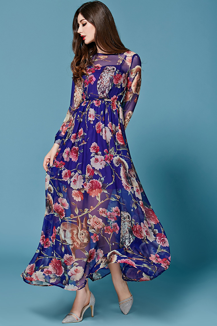 Платье из шифона летнее