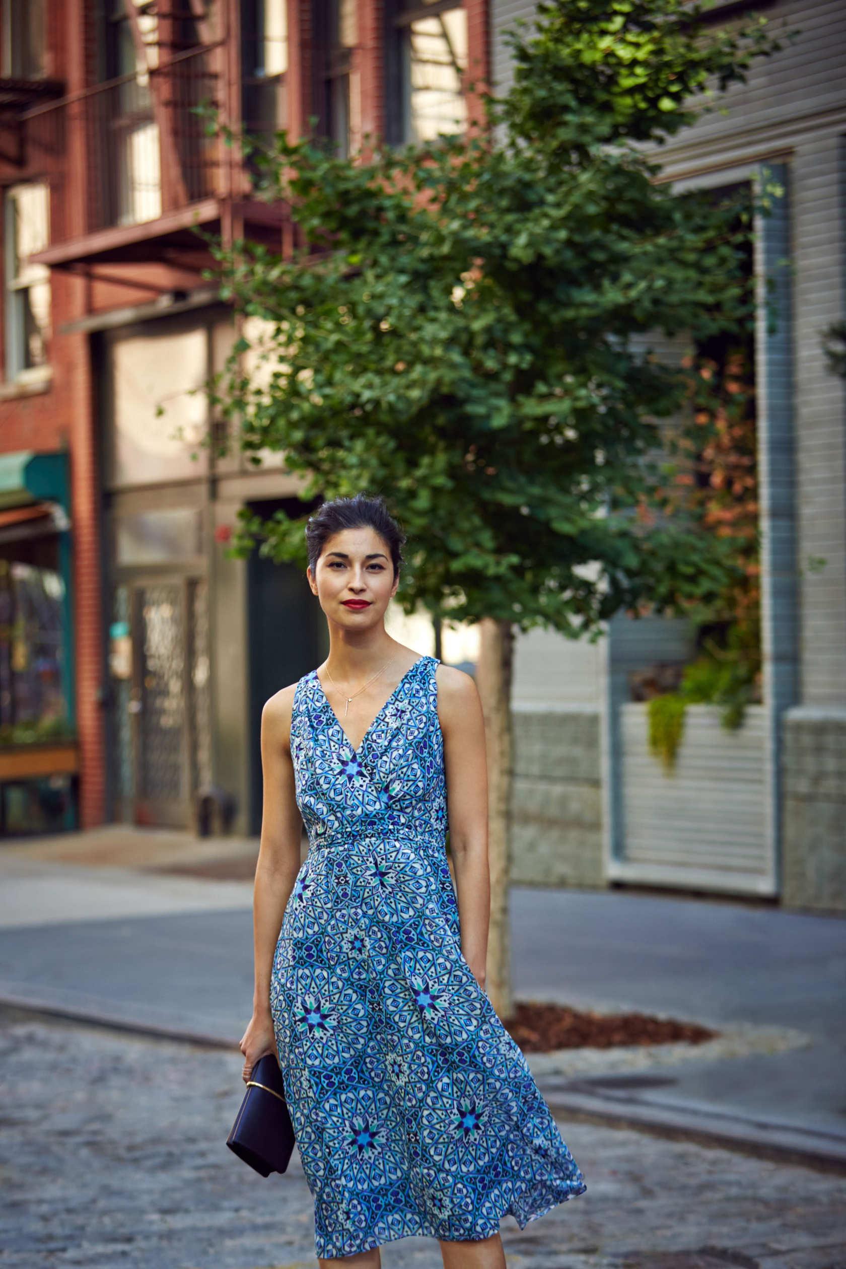 Платье из шифона на лето