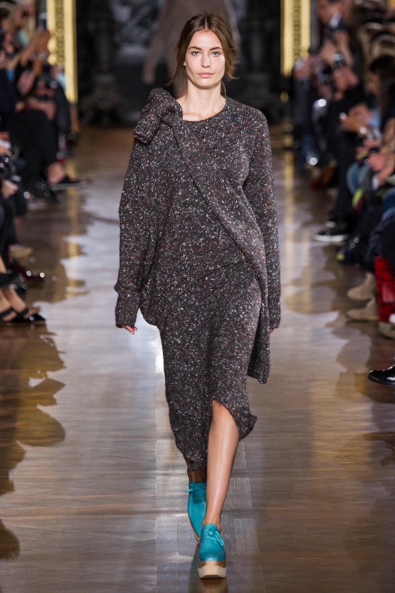 Платье вязаное меланжевое