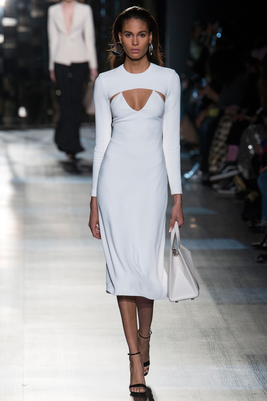 Платье футляр миди белое