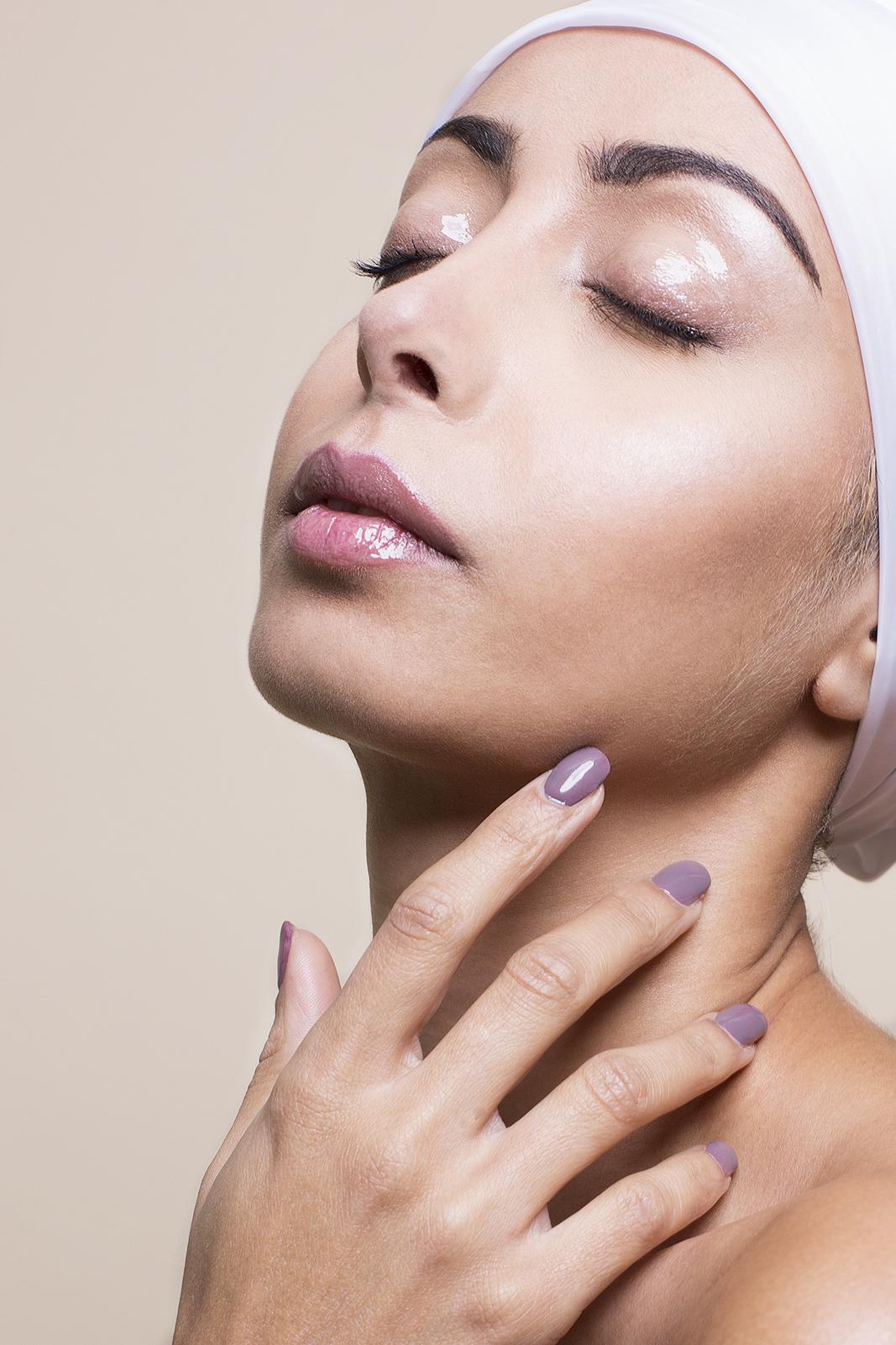 Нюдовый макияж персиковый