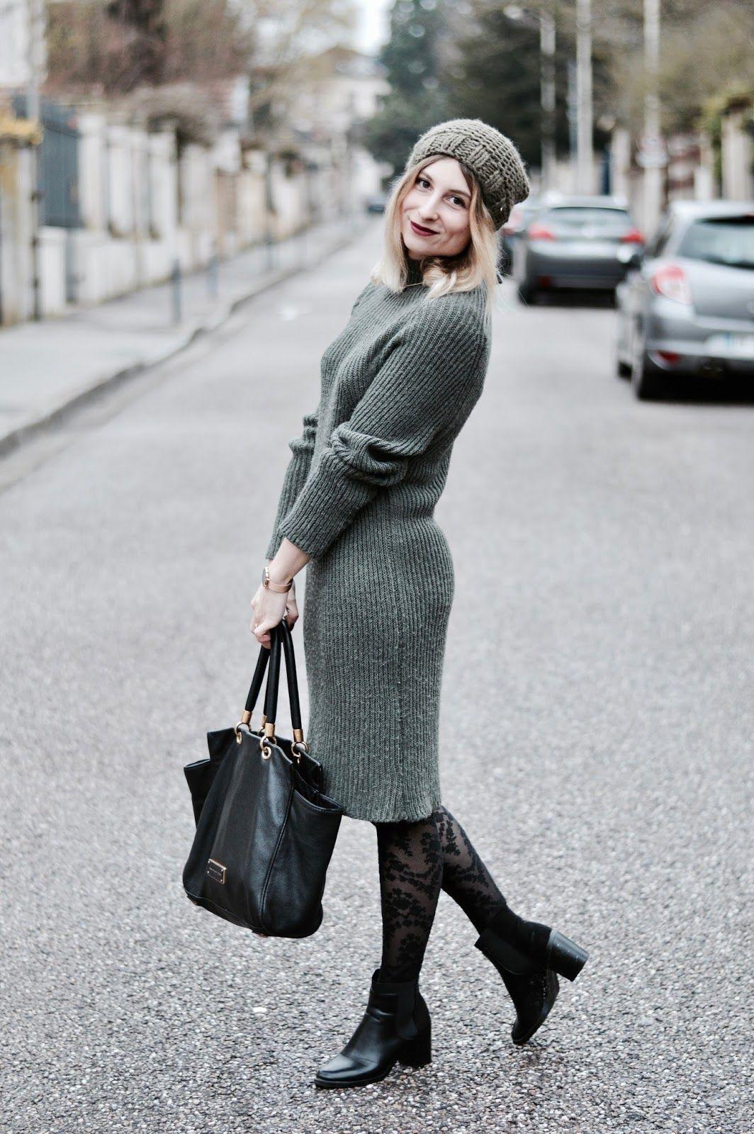 Платье вязаное повседневное