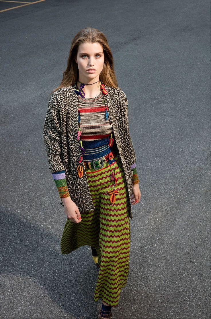 Платье вязаное с принтом