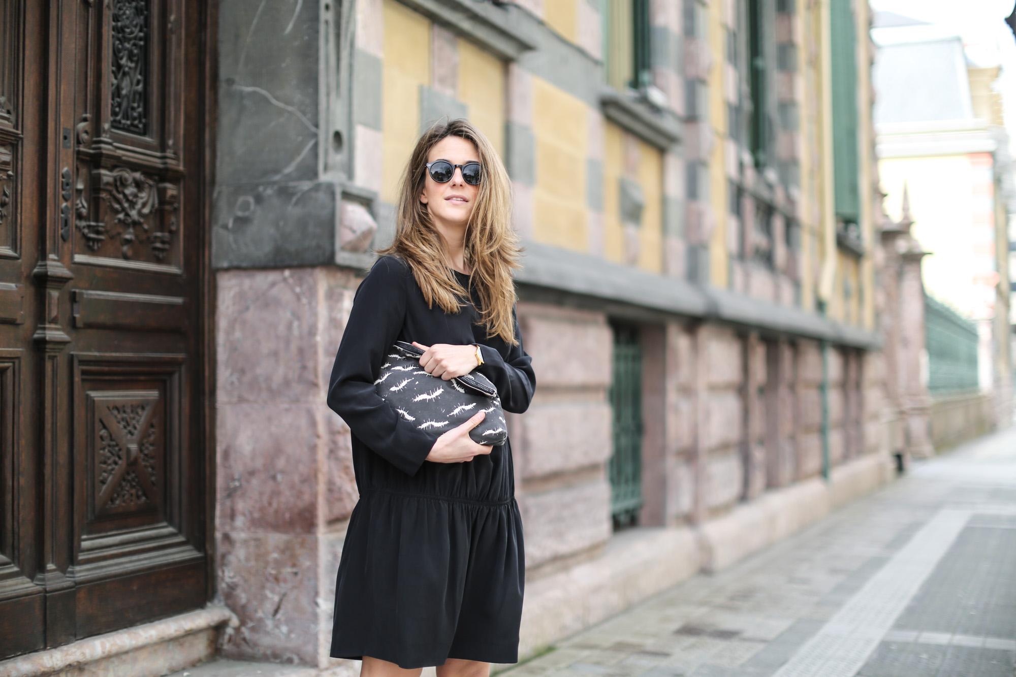 Шелковое платье простое