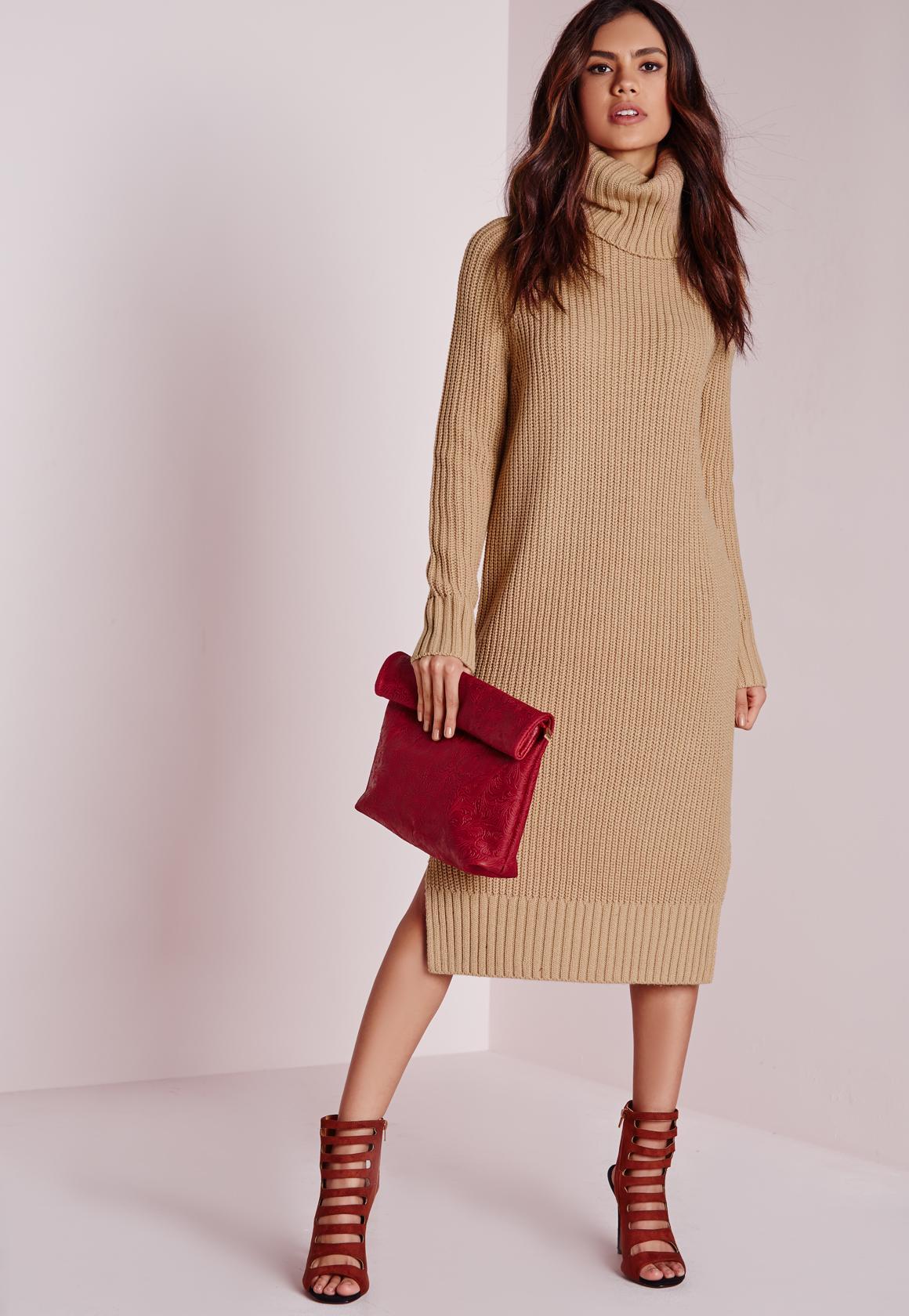 Платье вязаное прямое миди