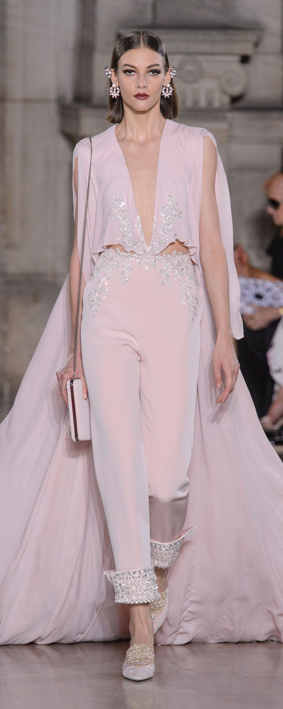 Шелковое платье розовое